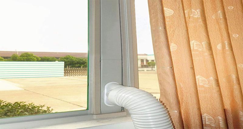 instalación de un aire acondicionado portátil en ventana