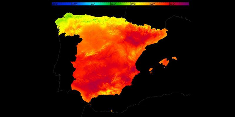 mapa calor españa
